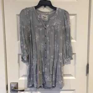 Button up peasant top with pockets - Anthropologie
